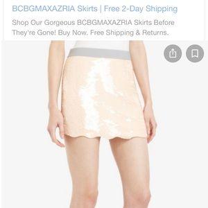 Bcbg sequin peach skirt size medium